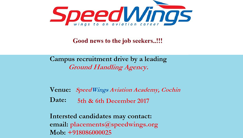 Campus recruitment drive by a leading Ground Handling Agency