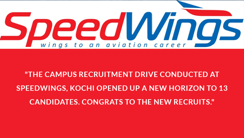 Campus Recruitment drive: 13 candidates ready to hit the skies