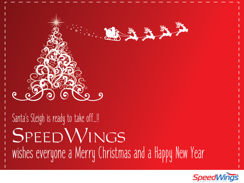 SpeedWings wishes everyone a merry Christmas and a happy new year